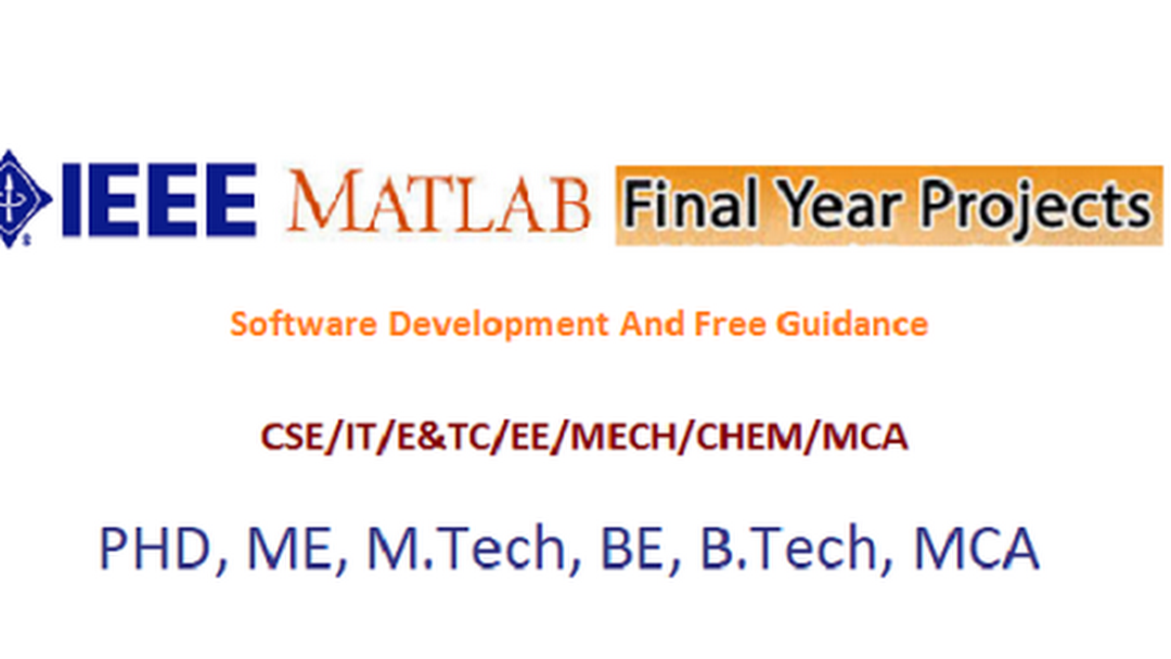 IEEE Matlab Final Year Projects Mumbai Pune University