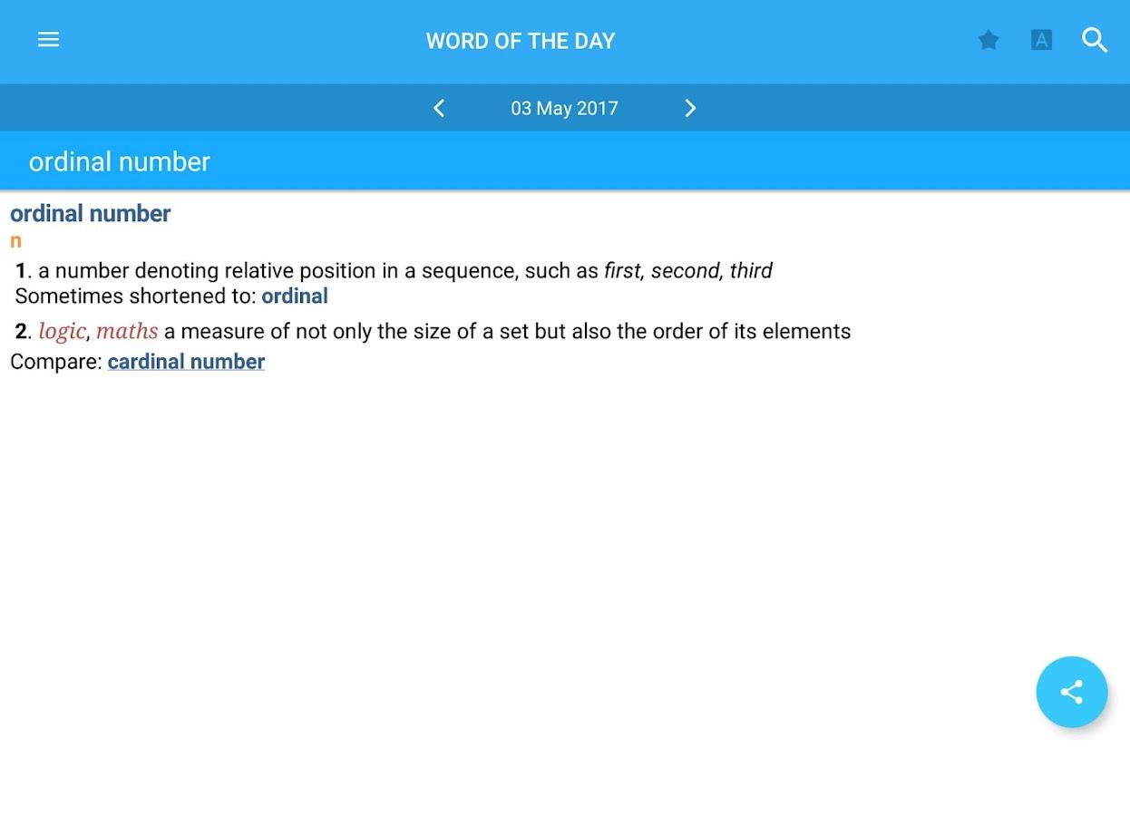 Collins English Dictionary Screenshot