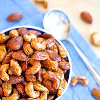 Maple Tamari Roasted Almonds and Cashews Recipe