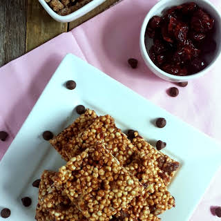 Chocolate, Cherry & Candied Pecan Chewy Millet Bars.