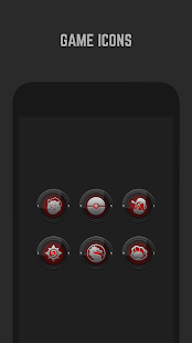 Black and Red Icon Pack- screenshot thumbnail