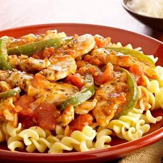 Quick and Easy Chicken Cacciatore.