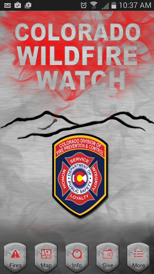 Colorado Wildfire Watch- screenshot