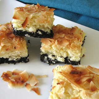 Brownie-Bottom Coconut Bars