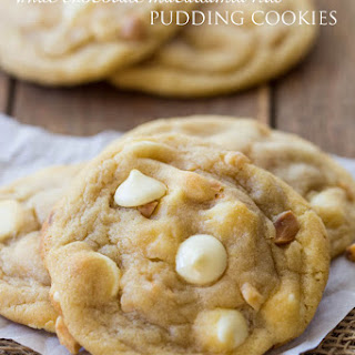 White Chocolate Macadamia Nut Pudding Cookies
