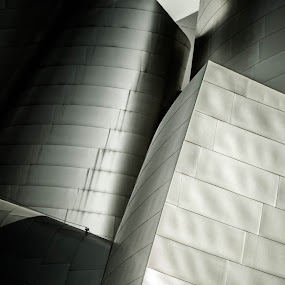 Rhythm #2 by Paul Aparicio - Abstract Patterns ( black and white, abstract architecture, los angeles, abstract photography )