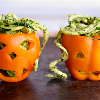 Zoodles with Pumpkin Kale Pesto