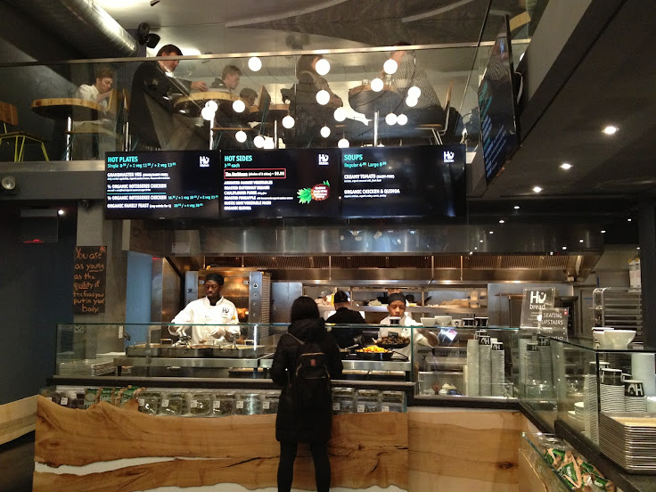 Order on the first floor and then head upstairs to the seating area at Hu Kitchen. Photo: Alex Reichek.
