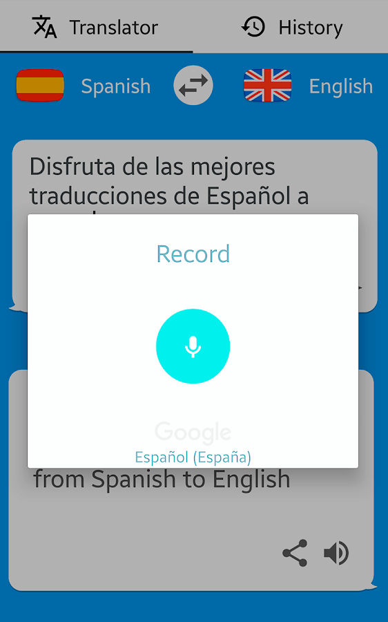 a spanish to english speech and Please submit your review for multi lang dictionary and translator + text to speech with english spanish chinese french german korean russian and more 1.