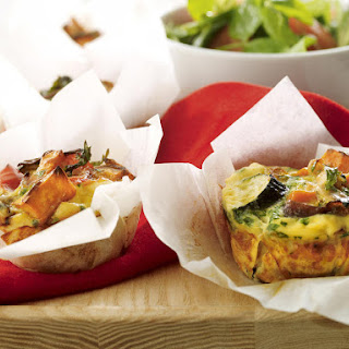 Roast Vegetable and Salmon Frittatas