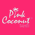 Pink coconut icon