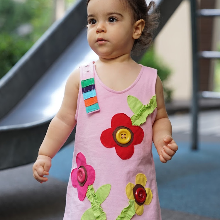Star Moon Spring Dress in Light Pink (12 months) by Berry Wonderful
