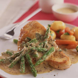 Turkey and Asparagus with Mustard Sauce.