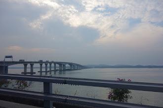 Photo: Le pont qui sépare la Malaisie de Singapour