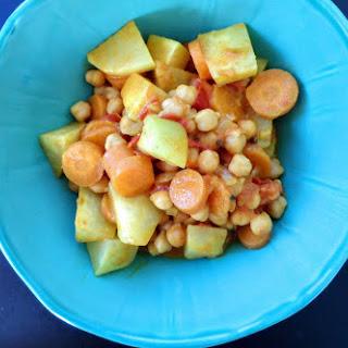 Chickpea, Carrot, Tomato and Kohlrabi Stew.
