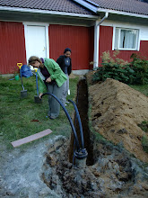 Photo: A geothermal heating system being installed at Anne's house