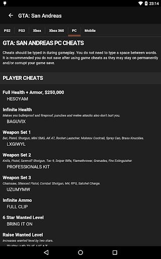 Cheats for GTA  screenshots 9