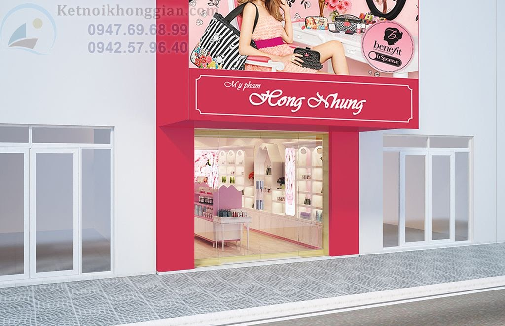 thiết kế shop mỹ phẩm đẹo