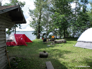 Photo: Waterfront campsite at Knight Island State Park by Beth & Brad Herder