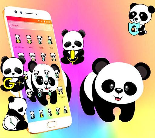 cute colorful panda theme apk download apkpure co
