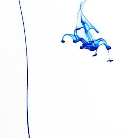 Ink Drop In Water Glass by Rouslan Podroutchniak - Abstract Fine Art