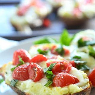 Caprese Twice Baked Potatoes.