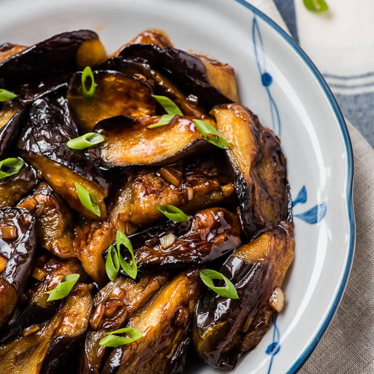 Chinese Eggplant  afterward Garlic Sauce (红烧茄子)