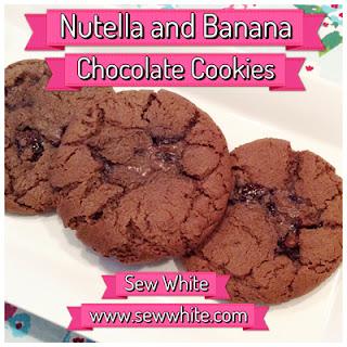 Nutella and Banana Chocolate Cookies