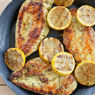 Roasted Lemon Chicken With Rosemary and Potatoes.