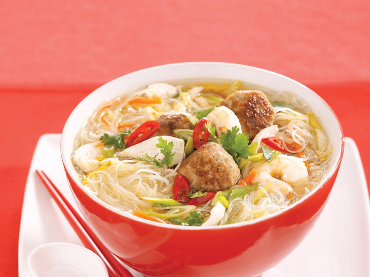 Noodle Soup with Pork, Chicken and Shrimp Recipe