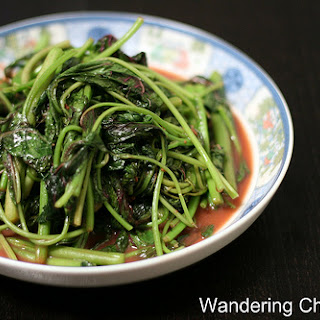 Rau Den Xao Chao (Vietnamese Amaranth / Chinese Red Spinach Sauteed with Fermented Bean Curd)