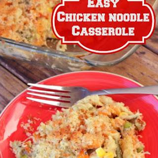 Easy Chicken Noodle Casserole.