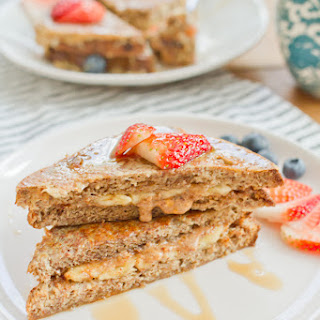 Clean Eating Stuffed French Toast with Almond Butter & Banana