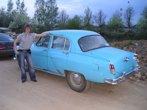 Photo: Dmitri Aleshin--the buyer and the restoration project manager, well-known Volga expert from St. Petersburg.