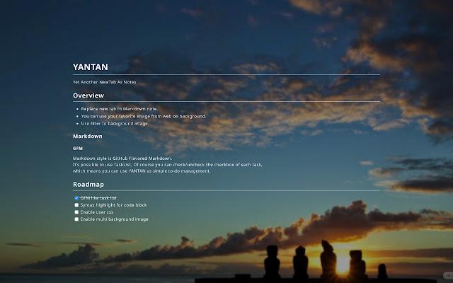 YANTAN - NewTab as Markdown NotePad