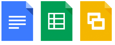Google Drive apps icons