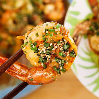 Rachael's Chinese-Style Shrimp Scampi.