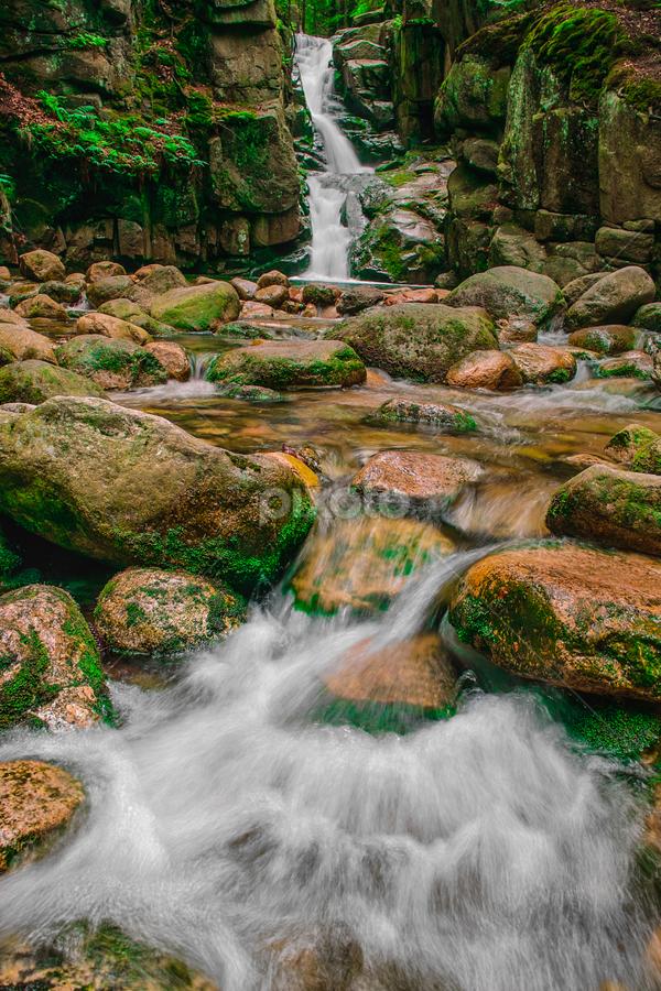 Podgorna Waterfall - Przesieka, POLAND by Krzysiek Roznowski - Landscapes Waterscapes ( water, przesieka, flowing water, waterfall, podgorna, sigma dp1x, poland )