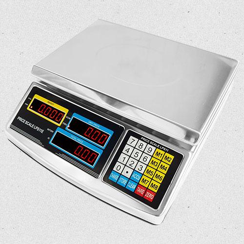 Cân điện tử được sử dụng trong các cửa hàng bởi thiết kế nhỏ gọn