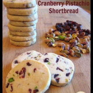 Cranberry Pistachio Shortbread Cookies.