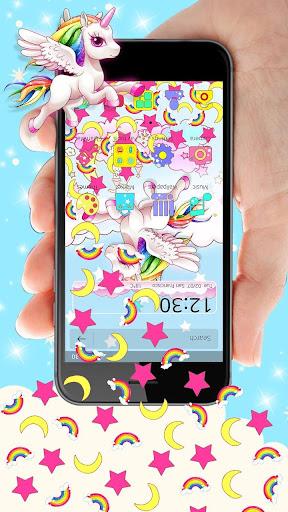 Cute Pink Unicorn Gravity Theme 1.1.1 screenshots 2