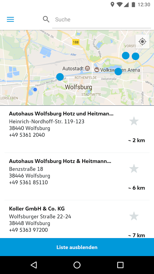 Volkswagen Service Germany – Screenshot