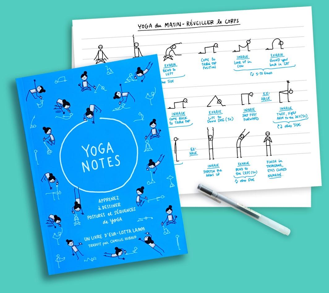 Yoganotes - Apprenez à dessiner des postures et séquences de yoga