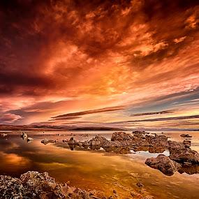Mono Lake Sunrise by Craig Turner - Landscapes Sunsets & Sunrises ( sky, mono lake, lake, sunrise, fire )