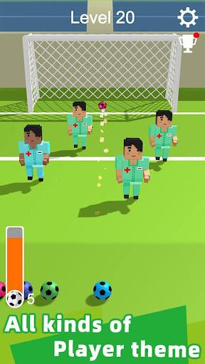 Straight Strike - 3D soccer shot game apkmr screenshots 3