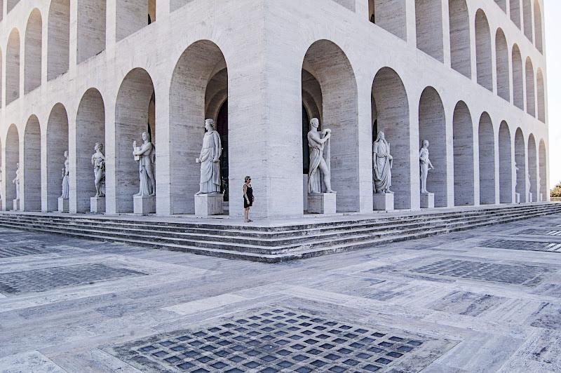 Palazzo della civiltà - Roma di albertocastagnaphoto