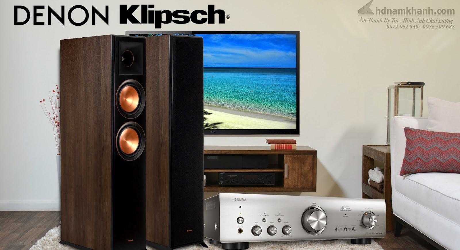 Bộ Hi-fi Amply Denon PMA 800NE + Loa Klipsch RP 5000F