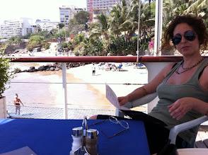 Photo: My wife Vanda, joined me at Dakar