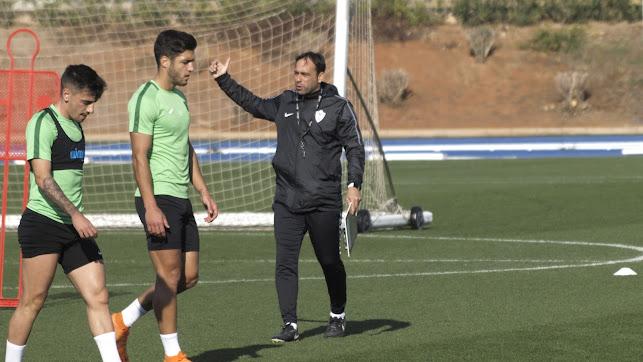 Fran Fernández en el entrenamiento de este viernes.