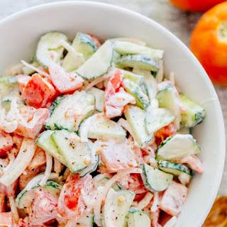 Creamy Cucumber and Tomato Salad Recipe
